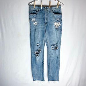Free People Distressed Denim Jeans